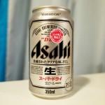 【アサヒスーパードライ】ガッチリと冷やして飲むとたまらん味のビールですよ